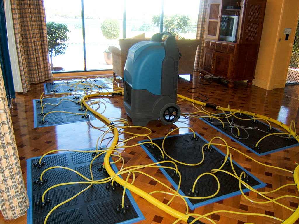 Timber floor drying